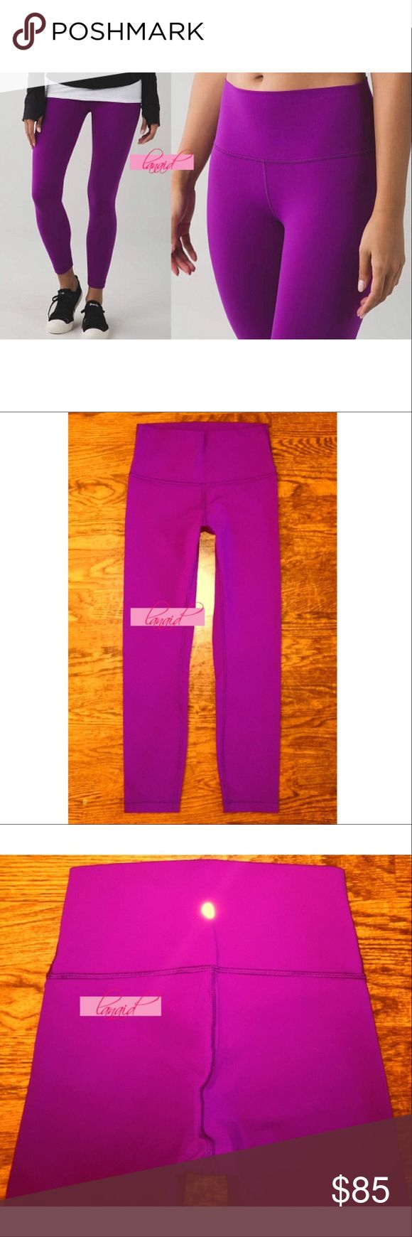 "Lululemon High Times Tender Violet Rise Waist Pant 📡PRICE IS FIRM AND NON-NEGOTIABLE. NO OFFERS. LOWBALLERS WILL BE BLOCKED. NO TRADES.📡 Lululemon ""High Times"" yoga pants in Tender Violet, size 6. High-waisted. Hidden pocket tucked into the waistband. Made of cottony-soft Full-On Luon® fabric (a tight-knit, more compressive version of Luon®). 7/8 length. Four-way stretch, sweat-wicking, and breathable. lululemon athletica Pants Skinny"