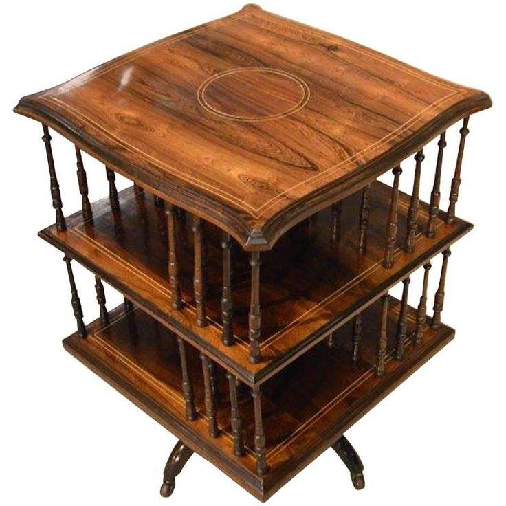 Rosewood Edwardian Period Antique Revolving Bookcase