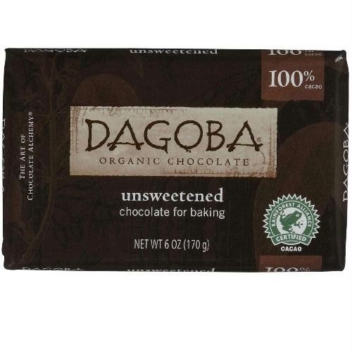 Dagoba Chocolate Unsweetened Dark Chocolate Baking Bar (10x6 Oz)