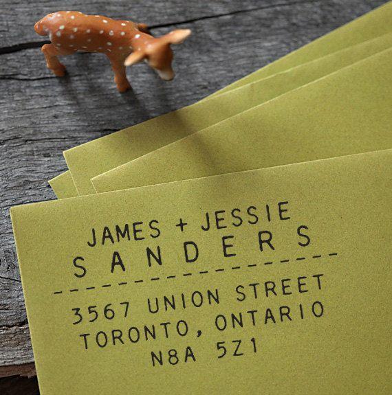 Self Inking Address Stamp - organic lines - wedding personal housewarming gift - 1031. $29.95, via Etsy.