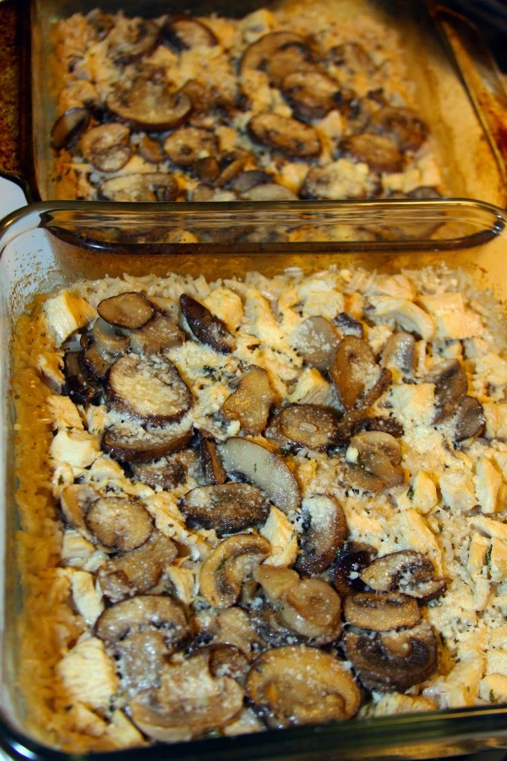 Marsala Chicken, Mushroom, and Rice Casserole   2 tbsp butter 8-10 ounces mushrooms, sliced (I prefer baby bella) 1 1/2 tbsp flour 1/2 cup Marsala wine  1/2 cup heavy cream 2 tbsp chopped flat-leaf parsley 1 cup long-grain rice, uncooked 2 cups chicken, cooked and chopped 3-4 tbsp Parmesan cheese, grated