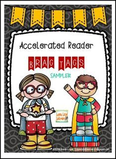 """FREE LANGUAGE ARTS LESSON - """"Brag Tags for Accelerated Reader AR Book Award & Points SAMPLER"""" - Go to The Best of Teacher Entrepreneurs for this and hundreds of free lessons. Kindergarten - 6th Grade  http://www.thebestofteacherentrepreneurs.com/2016/12/free-language-arts-lesson-brag-tags-for.html"""