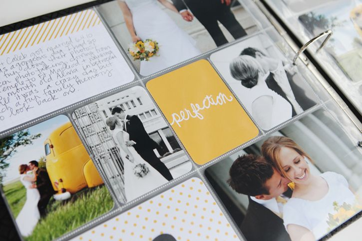 Project Life Midnight Edition: Wedding Pages. #projectlife