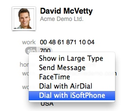 Dial from Address book or 3rd party apps