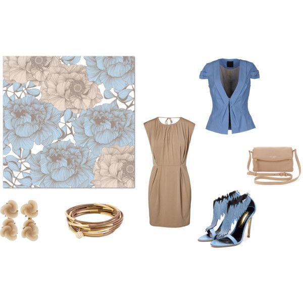 """Day in beige"" by balsamoirene on Polyvore"