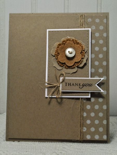 handmade card ... monochromatic kraft ...Papertrey Ink Stamp A Faire 2013 by ashjoy  ... like the use of white mat and inking ...