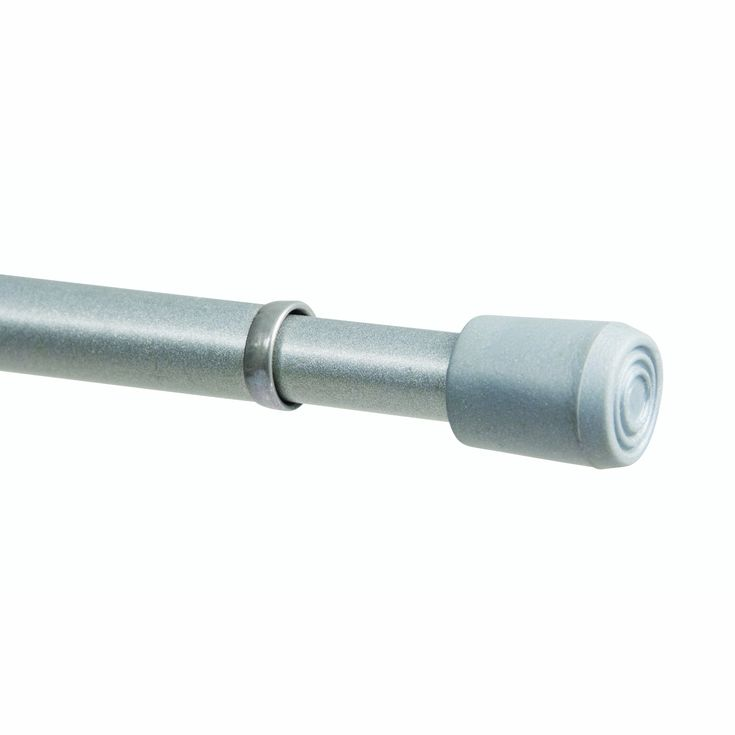 kenney spring window curtain rod 28 to 48inch pewter