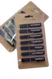 Knijpers dagen van de week | Stempels, inpakpapier, etc | Label 123