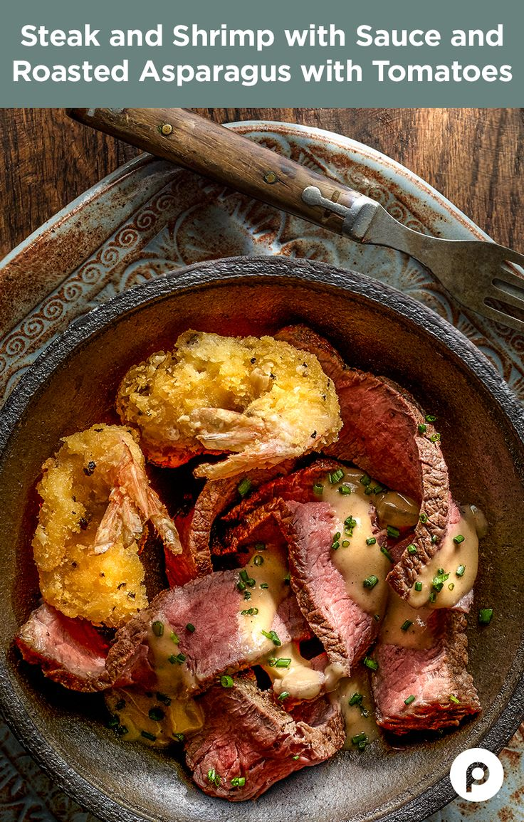 If you have a steak recipe bucket list, this dish should make the top 10. Steak? Check. Shrimp? Check. Sauce? Check. You get the idea. Lots of your favorite foods complement one another in this Publix Aprons recipe.