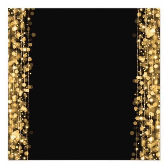 """60.o oro elegante de las chispas de la fiesta de invitación 5.25"""" x 5.25"""""""