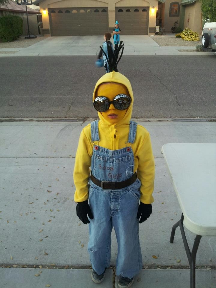 best little homemade minion costume ever!