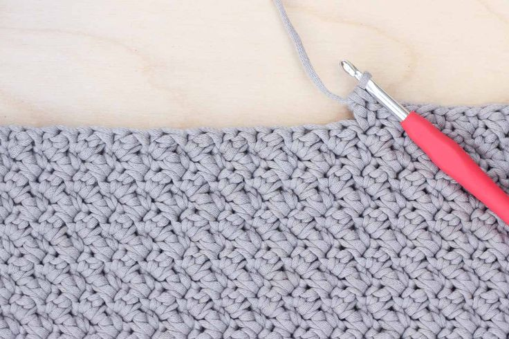 """Video tutorial: how to crochet the Suzette stitch from Make and Do Crew. Great beginner stitch for afghans and baby blankets. Pictured in Bernat Maker Home Dec yarn """"Clay."""""""