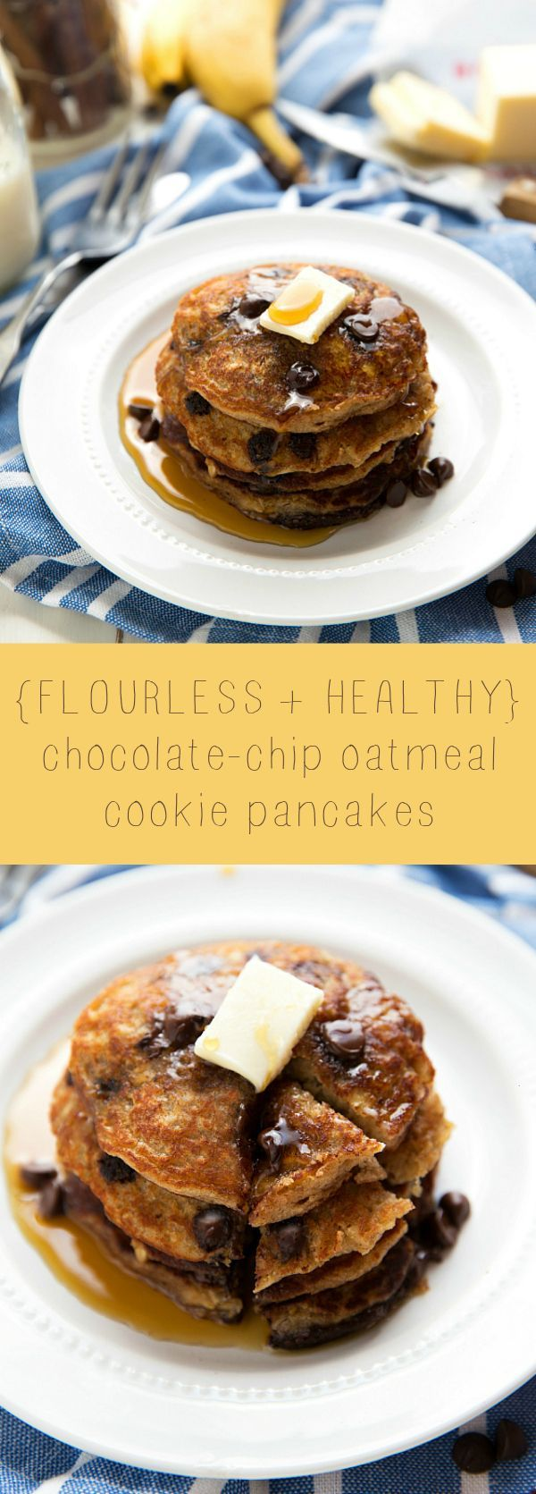 ... oats, these healthy and flourless pancakes are good for you and great