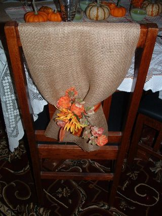 burlap chair covers- chairs at the party barn are brown metal. Cheap alternative to renting chairs?