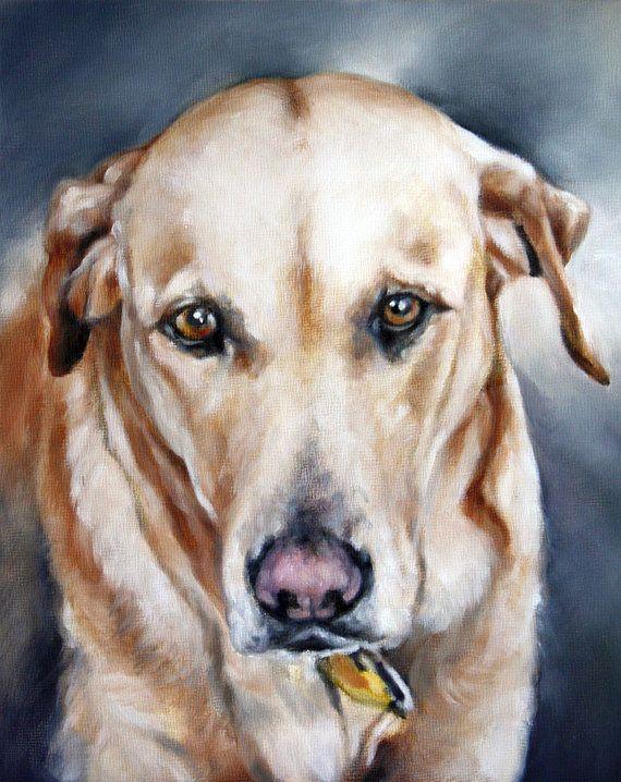 Custom Pet Portraits Oil Painting Pet Portrait Portrait