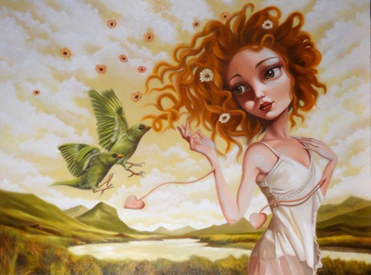 Solo finchè ci sarai, oil on canvas cm 60 x 80