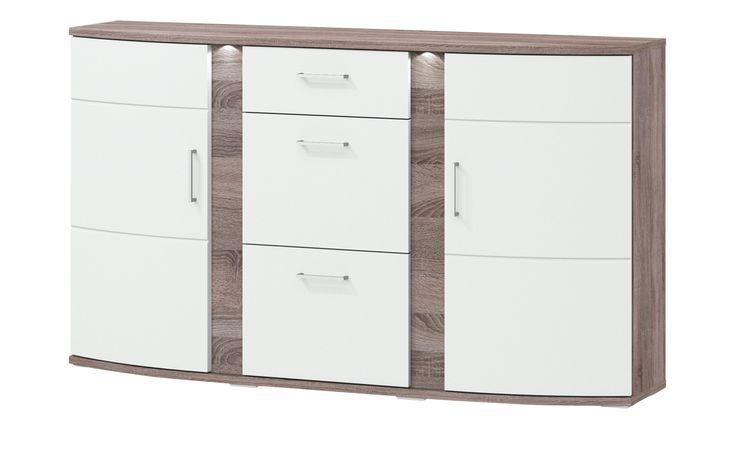 uno Sideboard mit Beleuchtung Onyx   Wohnzimmer > Schränke > Sideboards   Materialmix   Hoeffner