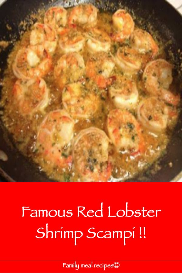 Famous Red Lobster Shrimp Scampi !! – Family meal recipes