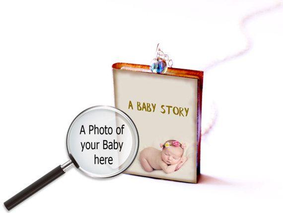Custom baby shower gift for mothers day gift by RareBirdDreams #Newmom  #Babygirl #book #Babyboy #Christening #Baptism #Gift