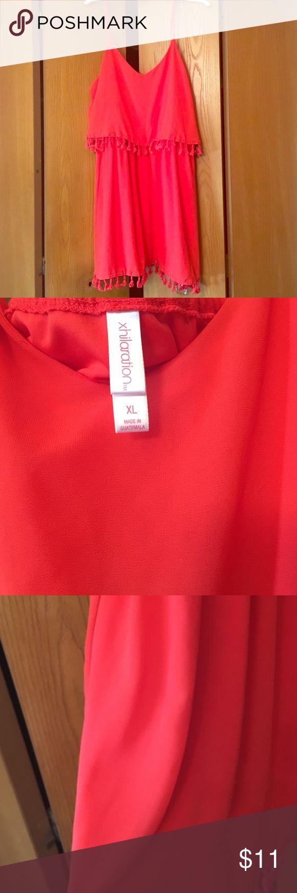 Chiffon Dress 🌺 Beautiful Chiffon Tangerine Dress 🌺 In Great Condition 🌺 Make A Offer 🌺 Xhilaration Dresses