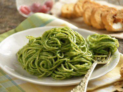 Receta de Spaguetti con Salsa de Espinacas