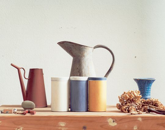a photo by Luigi Ghirri of Giorgio Morandi's studio (1989–90) Recently seen it at an exhibition. It was moving to see Morandi still lifes objects photographed.