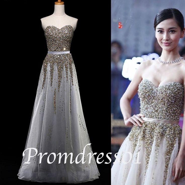 2015 new fashion silver grey chiffon sequins long prom dress, ball gown, winter formal, bridesmaid dress #promdress #wedding