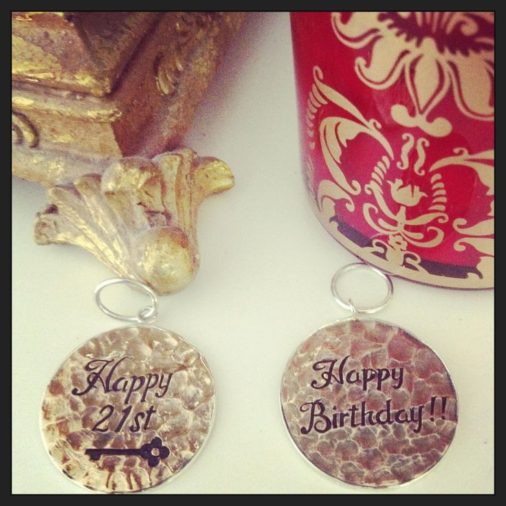 Sterling Silver and Brass Birthday Charms