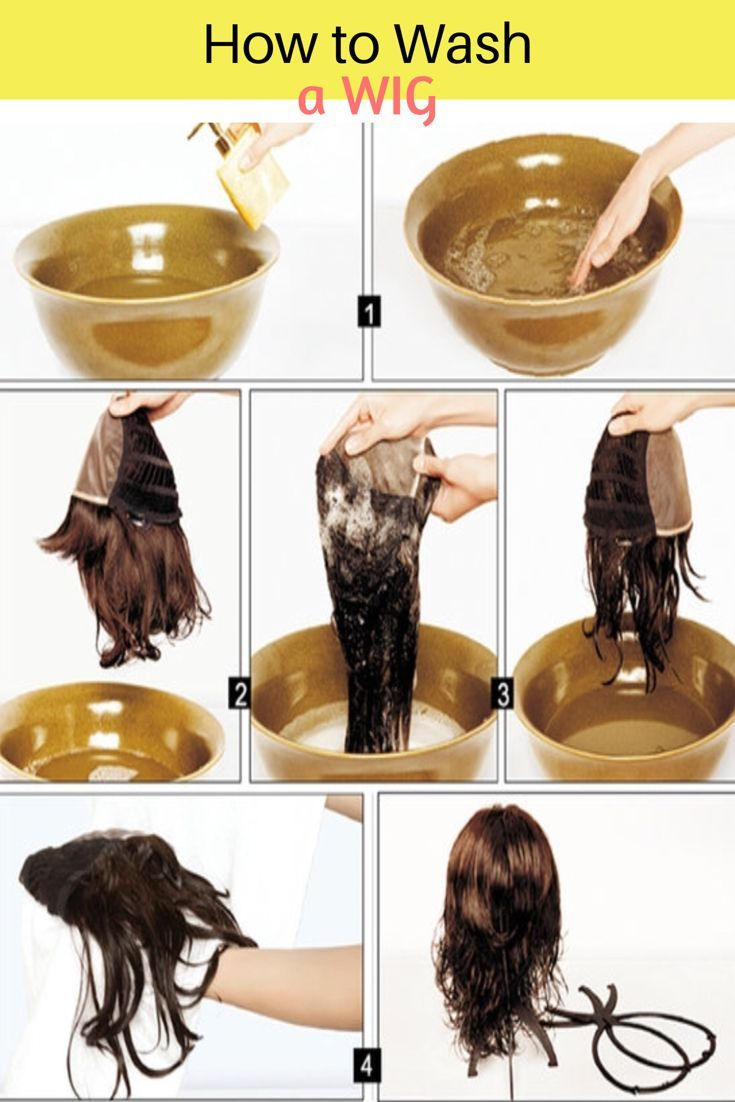 How To Wash A Wig Wig Care Lace Front Wigs Natural Hair Wigs Synthetic Hair Care Wigs Hair Extensions