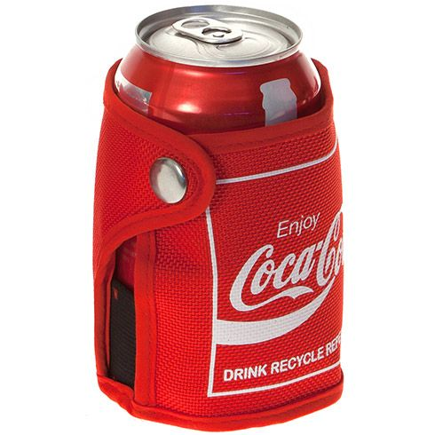 Eco-friendly Coca-Cola Can iCOOLer insulated wrap is made of recycled soft-drink bottles, with a non-toxic gel pack within the lining designed to keep your beverage colder longer.