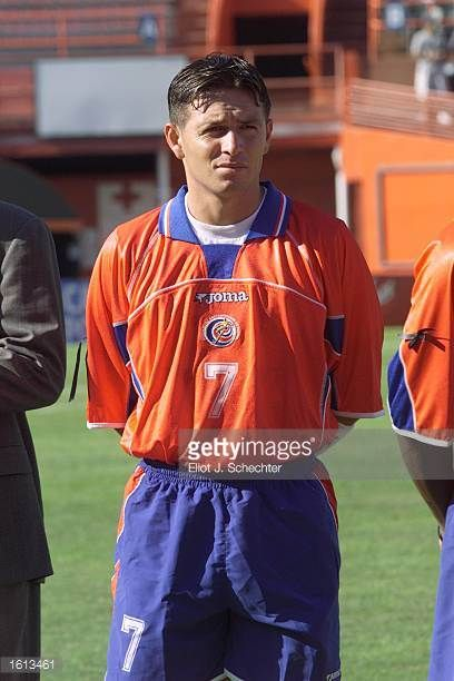 Roland Fonseca of Costa Rica prepares for the during the 2002 Gold Cup match against Trinidad Tobago at the Orange Bowl in Miami FloridaThe game end...