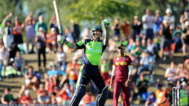 Nelson: Paul Stirling and Ed Joyce helped Ireland cause the first upset of the cricket World Cup 2015 with a four wicket victory over West Indies at Saxton Oval in Nelson on Monday.