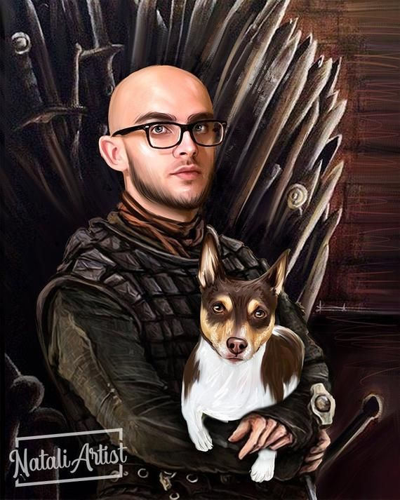 Custom Game Of Thrones Pet Portrait, Game of Throne Gift,  Ramsay Bolton, Gift for dad, Gift for him
