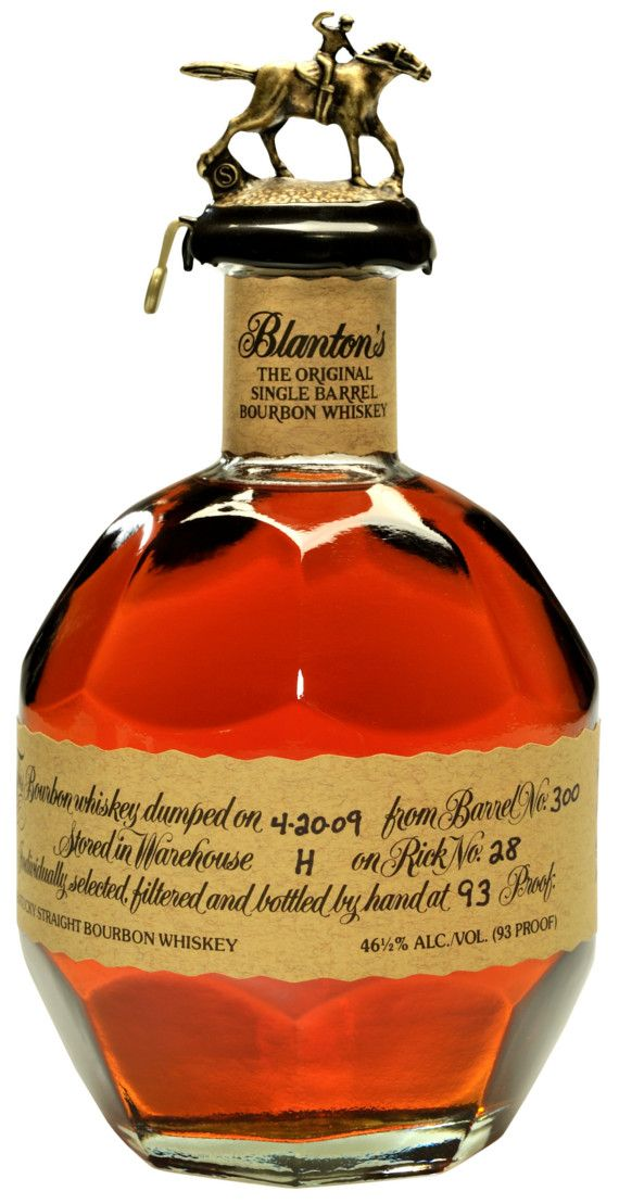 Delicious, delicious Blanton's Original Single Barrel Bourbon A fruity and lively whiskey with complexity. I can feel my cheeks flush just thinking about it.