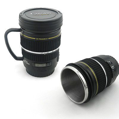 #Camera lens mug tea coffee cup mug #stainless steel #thermos lined & lid,  View more on the LINK: http://www.zeppy.io/product/gb/2/111991592326/