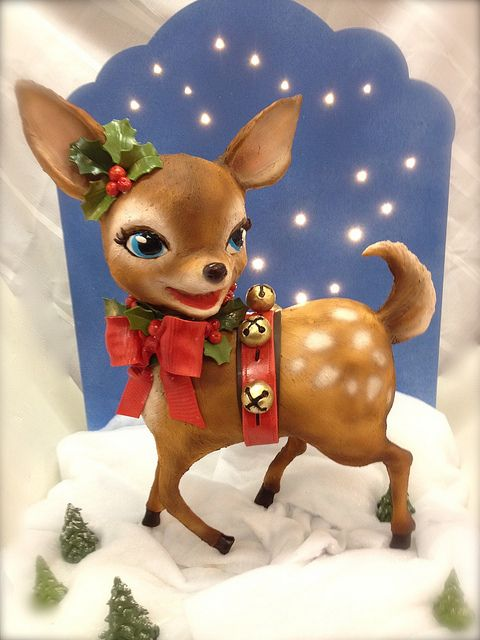 vintage deer display cake | Flickr - I so want to make this into a Boston Terrier!