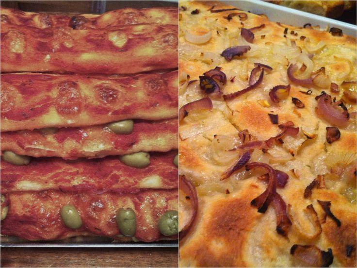 pasta madre per fare focaccia con cipolle e grissini di pizza