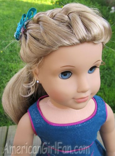 american doll hair style american fan how to do a crown braid easy tutorial 5518