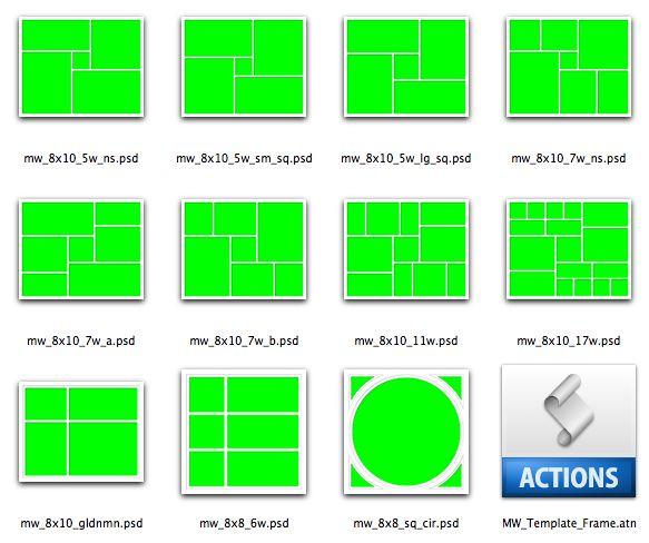 Oltre 20 migliori idee su Photoshop Collage Template su Pinterest