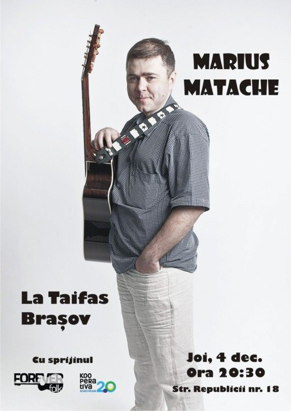 Joi, 4 decembrie, ne vedem La Taifas, in Brasov, str. Republicii nr. 18