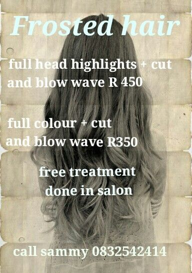 Call for more information. Pensioners and student discounts also available. Selling silver shampoos and argan oil masks *
