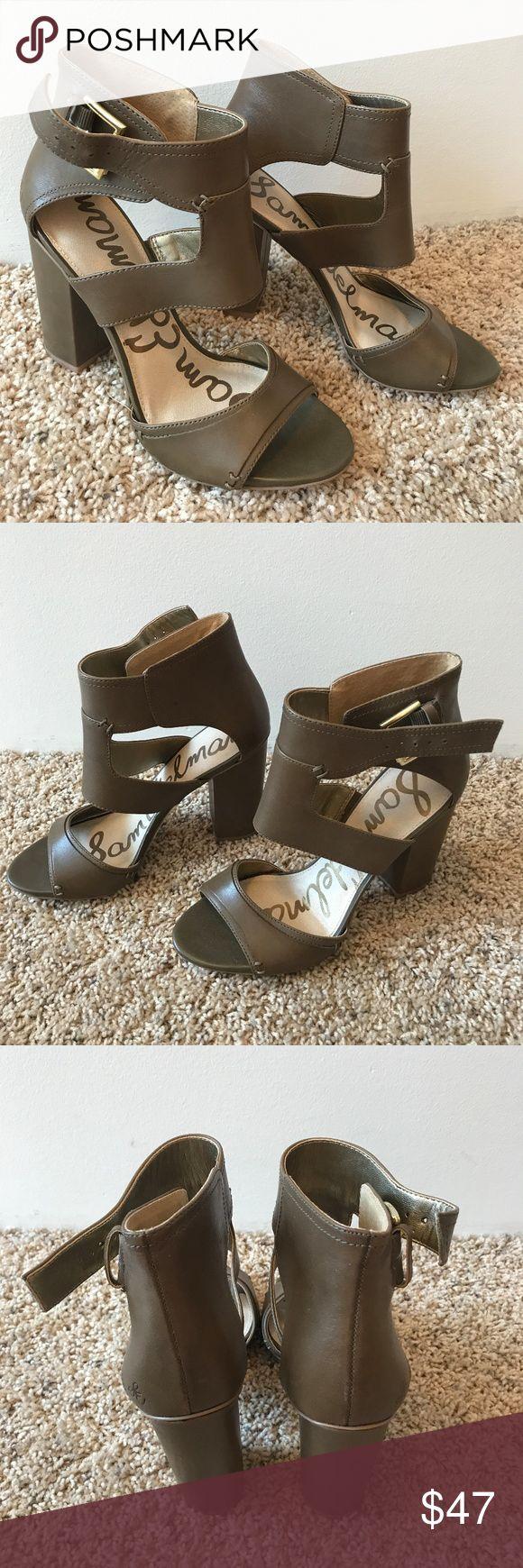 Sam Edleman Olive Green Heeled Sandals Size 7 Sam Edleman olive green sandals in a size 7 - worn just once! Sam Edelman Shoes Heels