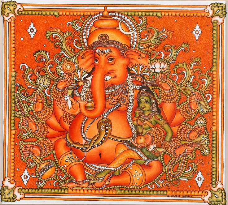 mural of lord ganapathi spiritual pinterest On mural ganapathi