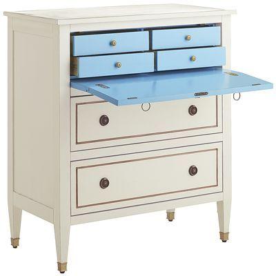 Ainsley Antique White Secretary Desk