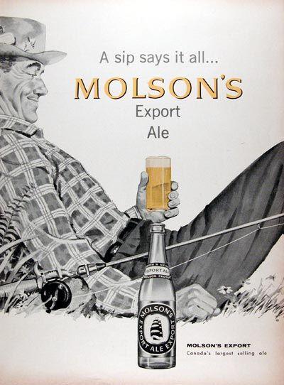 1958 Molson Export Ale #010046