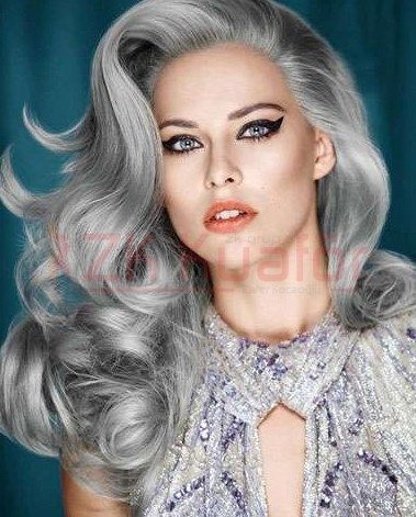 YENİ MODA: BÜYÜKANNE SAÇLARI.!  Kadınların bu aralar yeni trendi saçlarını gri tonlarına boyatmak...