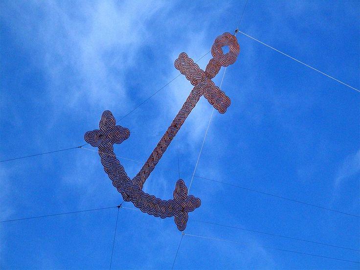 Neil Dawson, Anchor, 2006, VIctoria Point Docklands, Melbourne, Australia