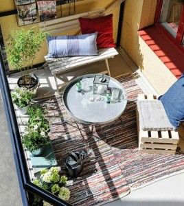 yet another cozy balcony find this pin and more on condo garden ideas