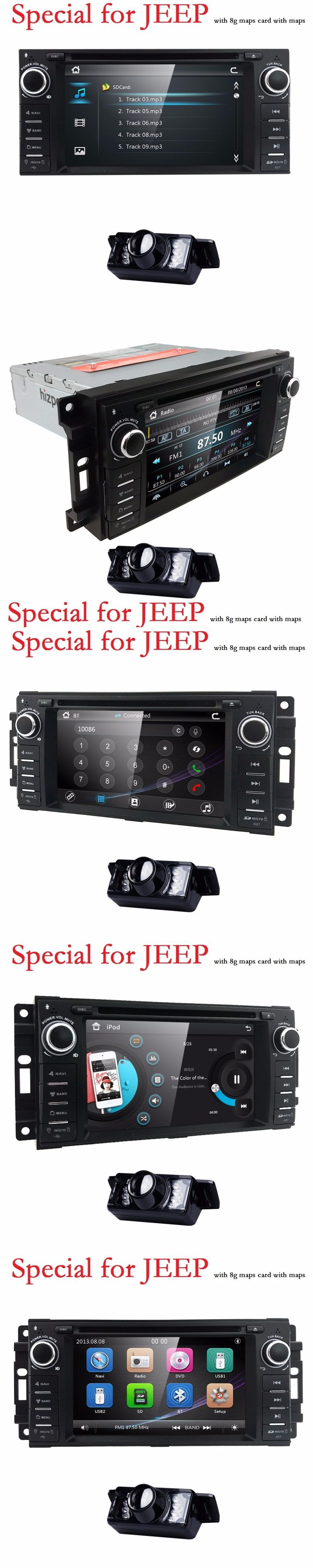 Car Monitor DVD Player For Wrangler Compass Grand Cherokee 2008-2011 With GPS Navigation Multimedia radio steering wheel BT DVR