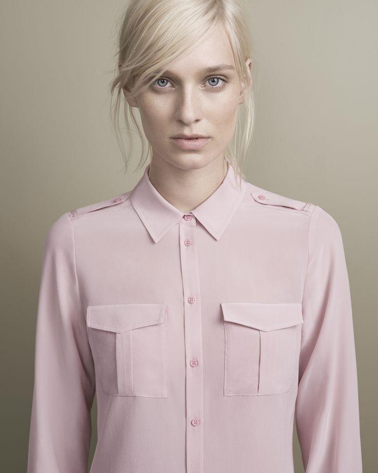 DAVID LAWRENCE   Long Sleeve Silk Utility Shirt #davidlawrence